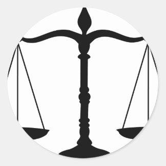 justice round sticker