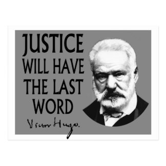 Justice will have the last word postcard