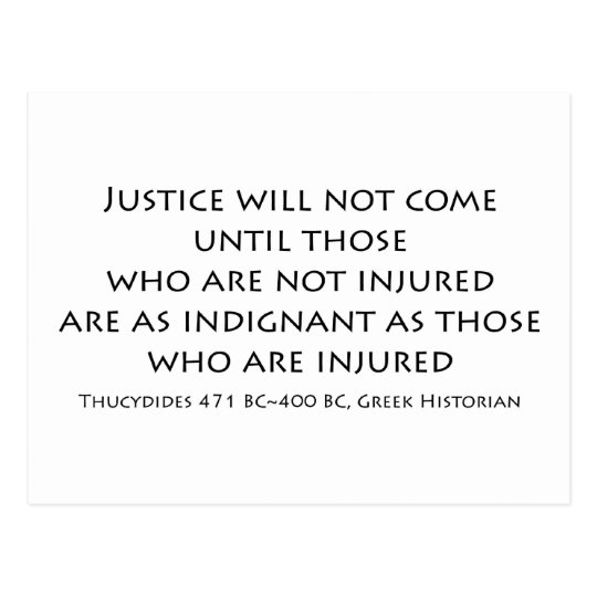 """Justice will not come..."" Postcard"