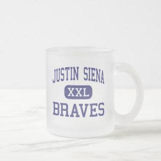 Justin Siena - Braves - High - Napa California Frosted Glass Coffee Mug