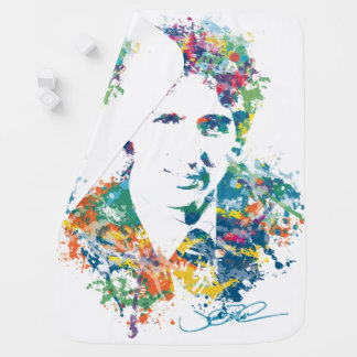Justin Trudeau Digital Art Baby Blanket