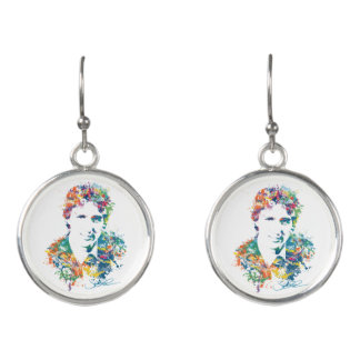 Justin Trudeau Digital Art Earrings