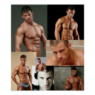 Justin Woltering Fan Club Collage Poster