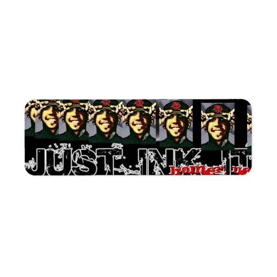 justinkit2 copy, justinkit2 copy, Me_Posterized... Return Address Label