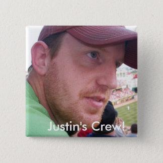 Justin's Semi-Colon Crew! 15 Cm Square Badge