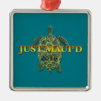 Justmauidseaturtle Silver-Colored Square Decoration
