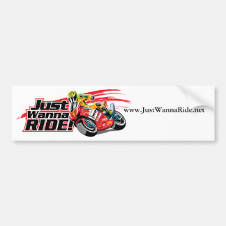 JustWannaRide.net Bumper Sticker