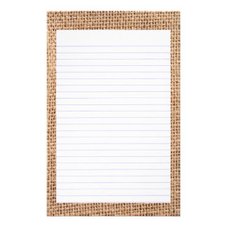 Jute  Lined Stationery