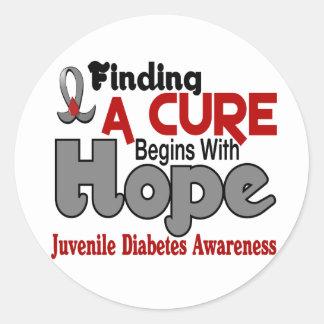 Juvenile Diabetes HOPE 5 Stickers