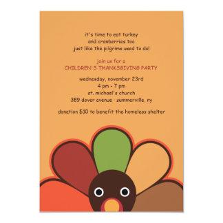 Juvenile Turkey Thanksgiving Invitation