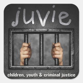 juvie Logo Sticker Squares