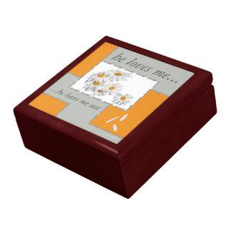 juwelen case case he loves me, he loves me not large square gift box