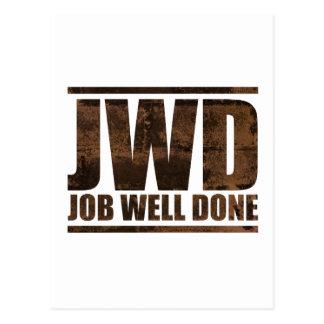 JWD Job Well Done - Wash Design Postcard