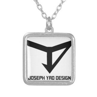 JYD Logo Square Pendant Necklace