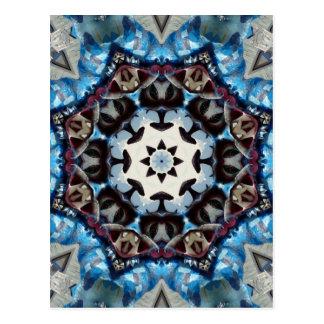 K186 Fancy Blue Octagon Postcard