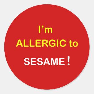 k8 - I m Allergic - SESAME Round Sticker