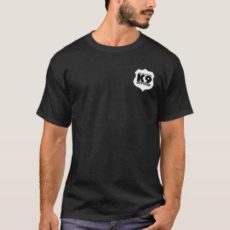 K9 Officer T-Shirt White on Black, ADD CITY NAME