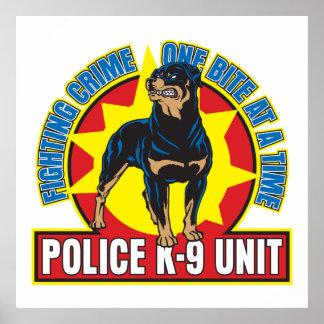 K9 Rottweiler Bite Poster