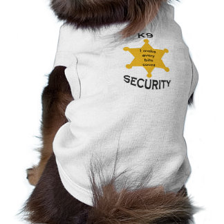 k9 security, I make every bite count Sleeveless Dog Shirt