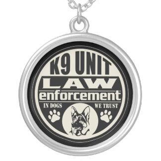 K9 Unit In Dogs We Trust Custom Necklace