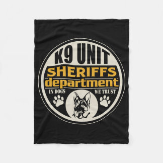 K9 Unit Sheriff's Department Fleece Blanket