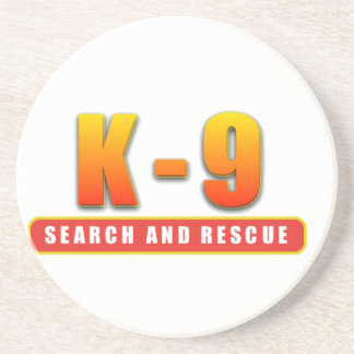 K-9 SEARCH AND RESCUE BEVERAGE COASTER