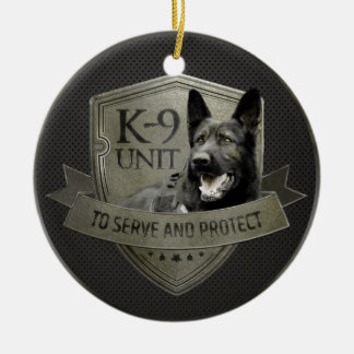 K-9 Unit GSD -Working German Shepherd Dog Ceramic Ornament