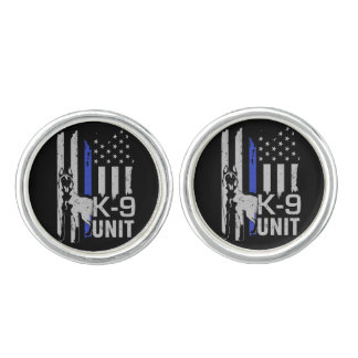 K-9 Unit  -Police Dog Unit- Malinois Cufflinks