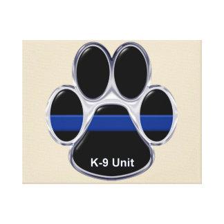 K-9 Unit Thin Blue Line Canvas Print