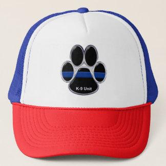 K-9 Unit Thin Blue Line Trucker Hat