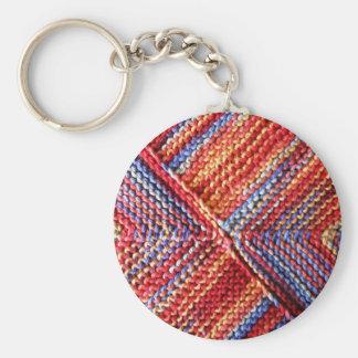k Artisanware Knit Basic Round Button Key Ring