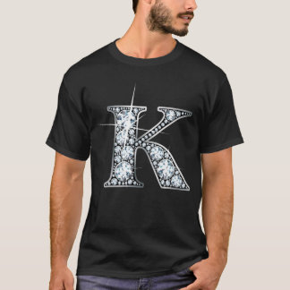 """K"" Diamond Bling T-Shirt"