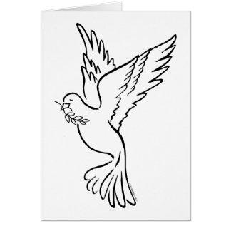 K - Dove of Peace Card