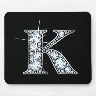 """K"" Faux-""Diamond Bling"" Mousepad"