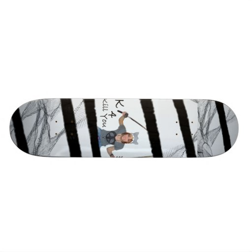 k for kill you skateboard decks