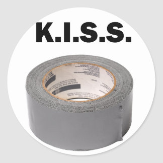 K.I.S.S. Duct Tape Round Stickers