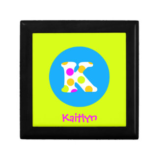 K Initial  Personalized Name Girls Jewelry Box