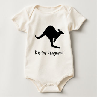 K is for Kangaroo Baby Baby Bodysuit