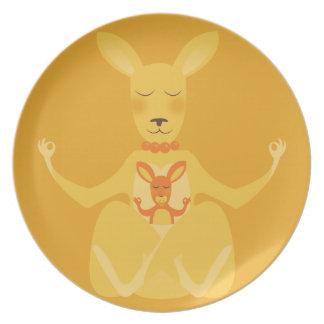 K is for Kangaroo Dinner Plates