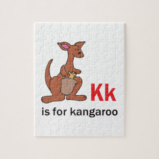 K IS FOR KANGAROO JIGSAW PUZZLE