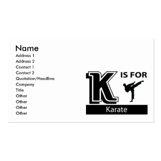 K Is For Karate Business Cards