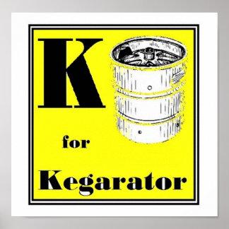 K is for Kegarator Poster