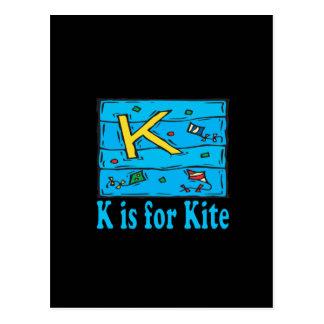 K Is For Kite 4 Postcard