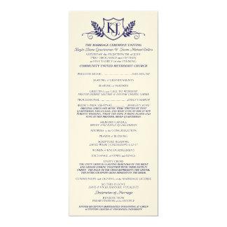 K&J Wedding Ceremony Program