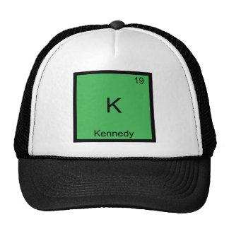 K - Kennedy Funny Chemistry Element Symbol T-Shirt Mesh Hats