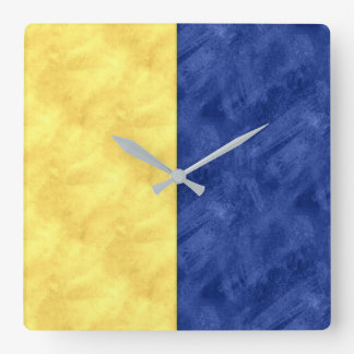 K Kilo Watercolor Nautical Signal Maritime Flag Square Wall Clock