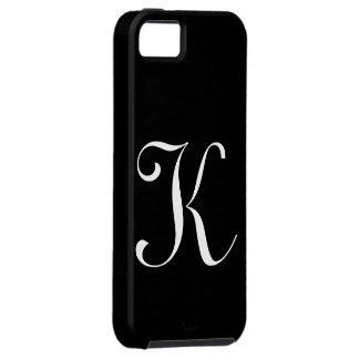K Monogram Black IPhone 5 Case