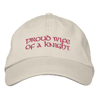 "K of C ""Proud Wife of a Knight"" Baseball Hat"