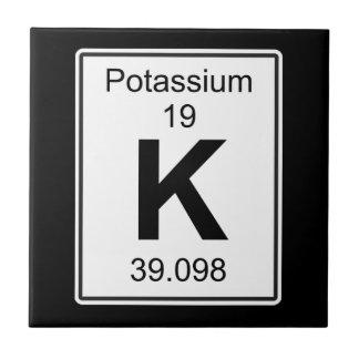 K - Potassium Ceramic Tile