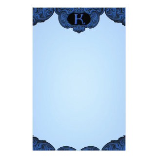 K - The Falck Alphabet (Blue) Personalized Stationery